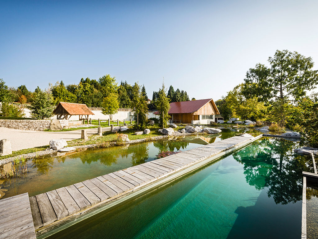 Balena naturpools poolgarten for Garten pool wasserpflege